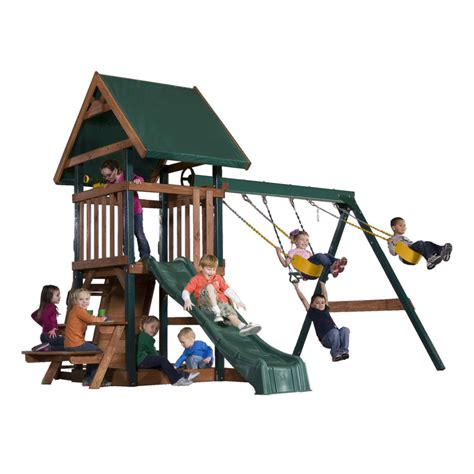lowes swing sets installed shop heartland commander s quarters residential wood