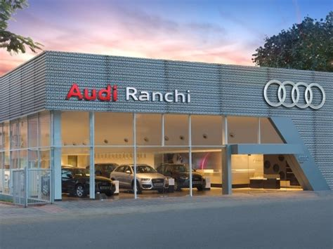 audi showroom audi showroom in jharkhand audi india inaugurates its