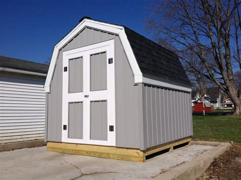 gambrel roof barn 8 x 8 storage shed hicksville ohio jeremykrill com
