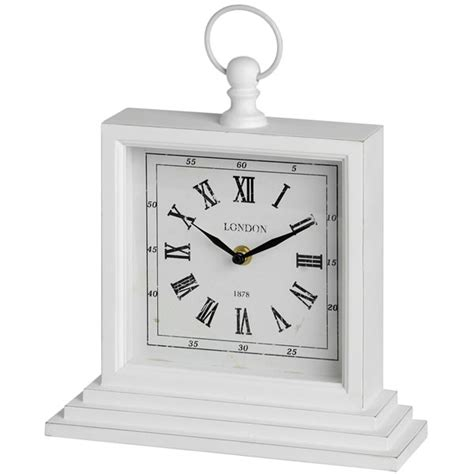 square shabby chic table clock