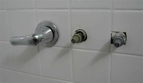 replacing a three handle tub shower faucet with moen posi