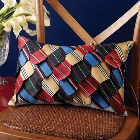 pillow made from ties diy ideas
