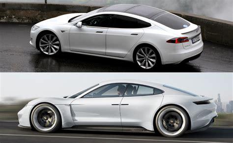 Tesla Vs Porsche Tesla Image