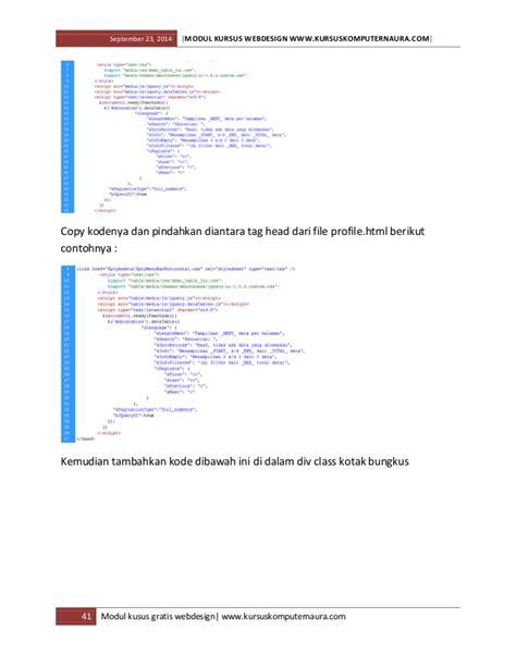 belajar membuat website dengan html dan css modul dan ebook belajar membuat website untuk pemula