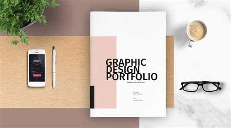 print portfolio template graphic design portfolio template