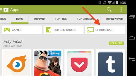 chromecast apps android chromecast apps get their own section on the play app
