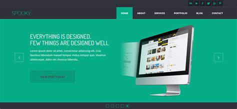 bootstrap templates for graphic designers 45 best bootstrap portfolio website templates web