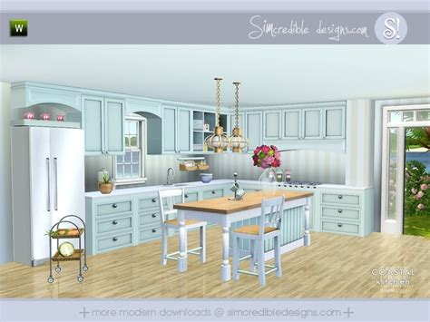 be still my heart a coastal inspired kitchen 5 take simcredible s coastal kitchen