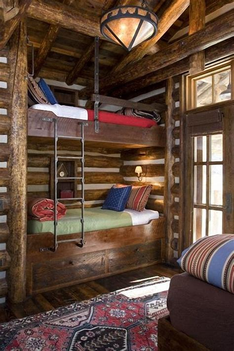 Cabin Bunk Beds Like The Ladder Built Ins Pinterest Cabin Bunk Beds For