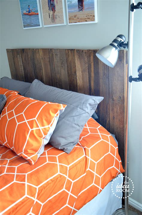 how to build a pallet headboard diy pallet headboard the idea room