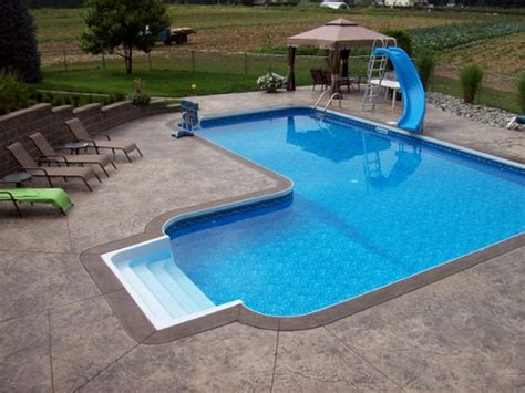 l shaped pool designs vastec coping for vinyl liner pools pools built by
