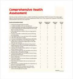 health templates sle health assessment template 5 free documents in