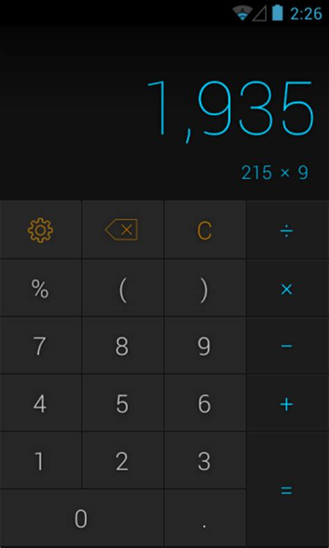android calculator app calcu is a powerful android calculator app with gestures themes