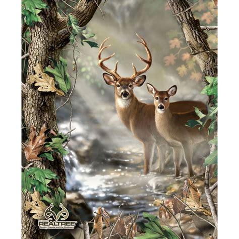 pattern whitetail deer realtree deer quilt panel sykel enterprises sykel