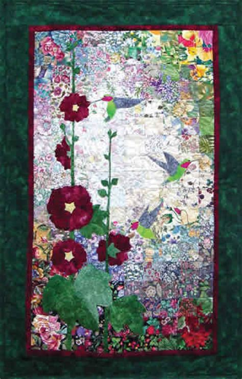 watercolor quilt pattern free hummingbirds hollyhocks watercolor quilt kit whims