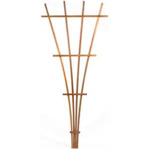 fan garden trellis shop matthews four seasons 5 25 in w x 72 in h brown fan