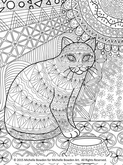 coloring page printable calico tabby cat printable