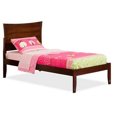 twin xl beds furniture atlantic furniture urban lifestyle metro twin xl open foot bed in antique walnut free shipping