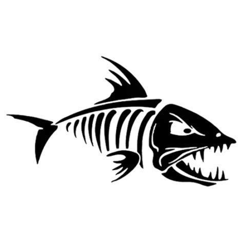 skeleton fish die cut vinyl decal pv1822
