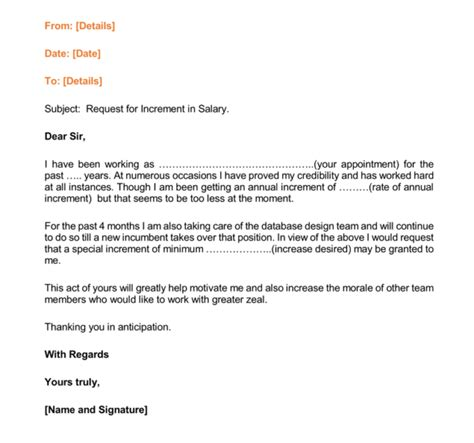 Increment Request Letter Format Doc 12 Salary Increases Letter Formats Sles For Word And Pdf