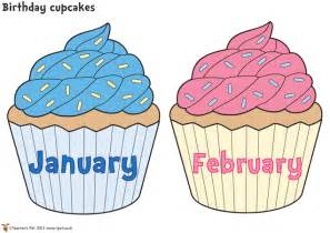 cupcake birthday chart template 8 best images of monthly birthday cupcake printables