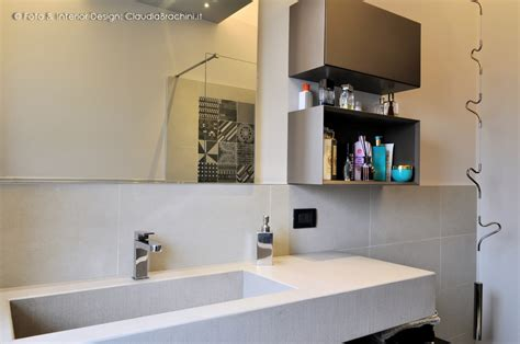 bagni con resina bagno lavabo integrato resina cemento brachini