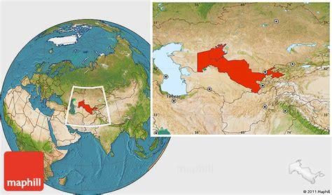 uzbekistan world map satellite location map of uzbekistan