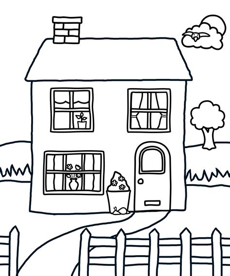 printable coloring pictures of a house building architecture house coloring pages for kids
