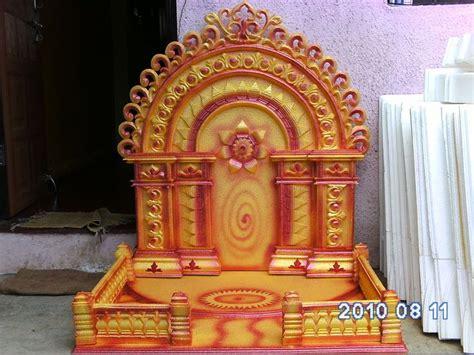 wallpapers ganapati makar ganesh decoration thermocol