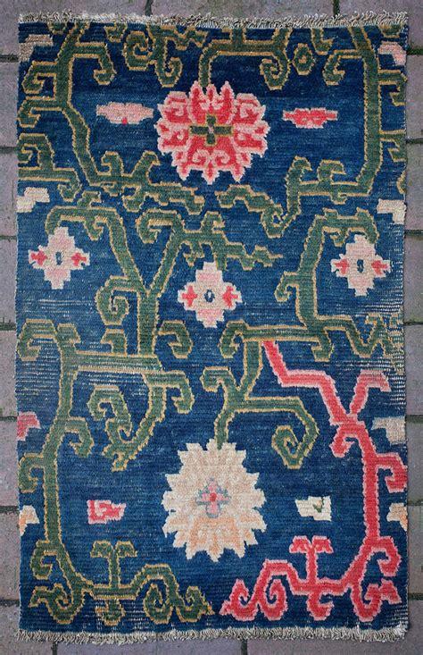 antique tibetan rugs antique tibetan rug saddle top with lotus flower design for sale at 1stdibs