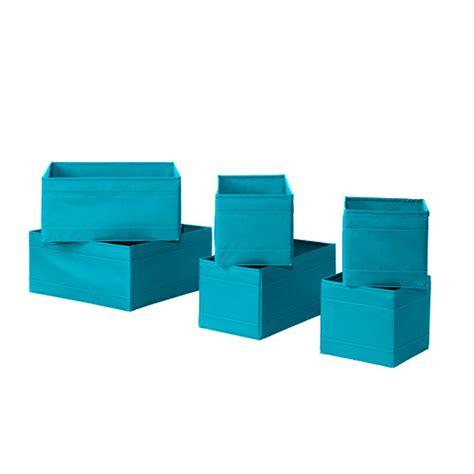 Ikea Turquoise skubb box set of 6 turquoise ikea