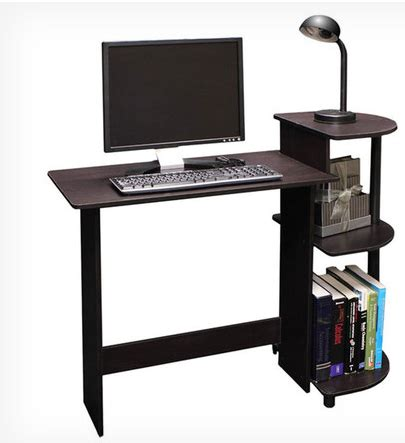 today only compact computer desk in espresso black