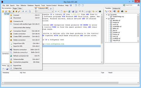 database editor big data ide
