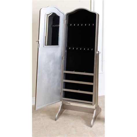 floor jewelry armoire with mirror abbyson living sophie floor mirror and jewelry armoire in
