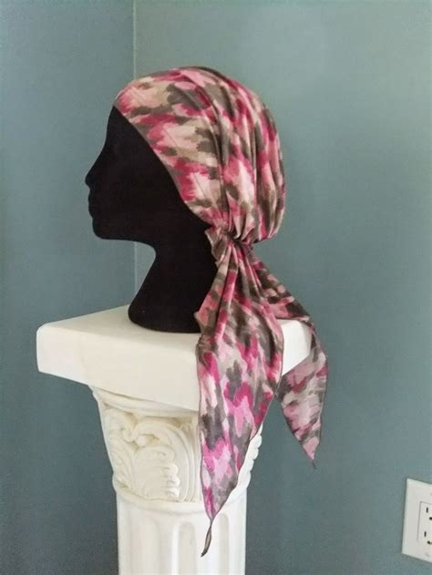 free sewing hat patterns chemo scarves free pattern for pretied chemo bandanna no fuss chemo