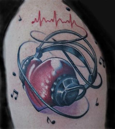 heartbeat headphones tattoo nice ekg tattoo generator segerios com segerios com