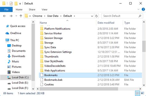 chrome themes saved location where are chrome bookmarks stored in windows 10 pc