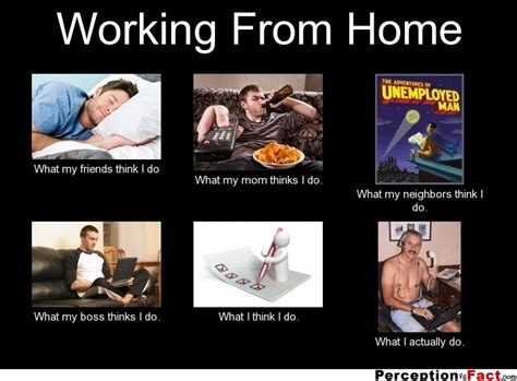 Working From Home Meme - frabz working from home what my friends think i do what my