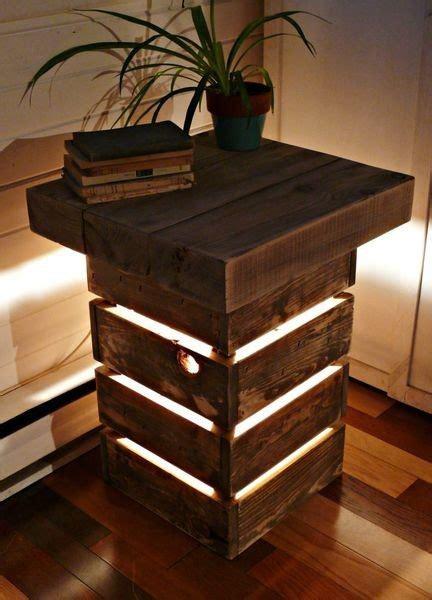 rustic reclaimed wood table  light  green head