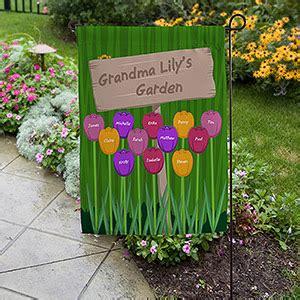 grandmas garden personalized garden flag