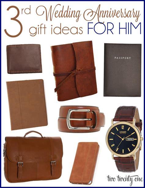 3rd wedding anniversary gift ideas