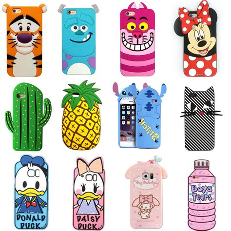 Softcase Casing Cat Fish Ring Stand Holder Silicon Iphone 6 Plus animal silicone 3d cover for apple