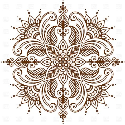 henna pattern vector round ornament vector google search quilt inspiration
