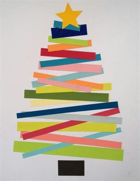 Paper Strips Crafts - paper tree craft ideas