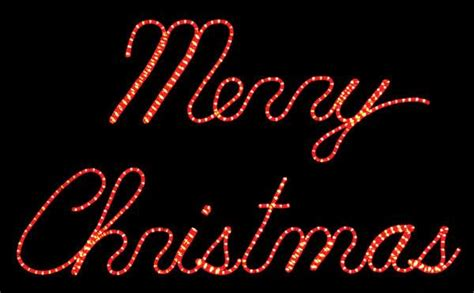 merry christmas light signs led merry rope light sign holidaylights