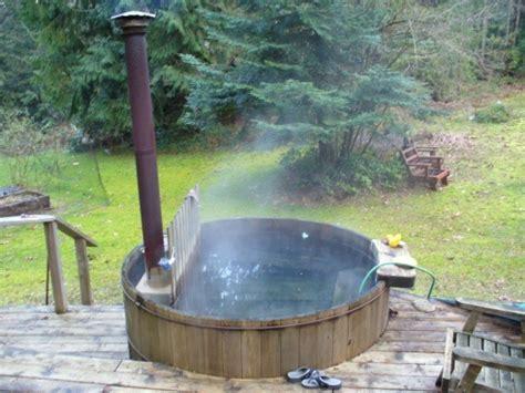 wood heated bathtub wood heated hot tub for the home pinterest