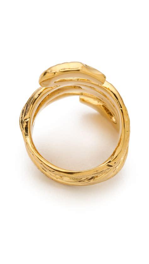aurelie bidermann mamba snake ring in metallic lyst