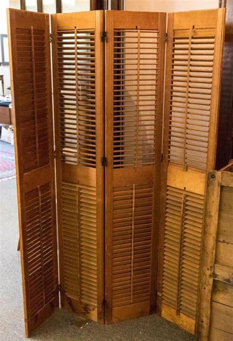 shutter room divider four panel shutter room divider