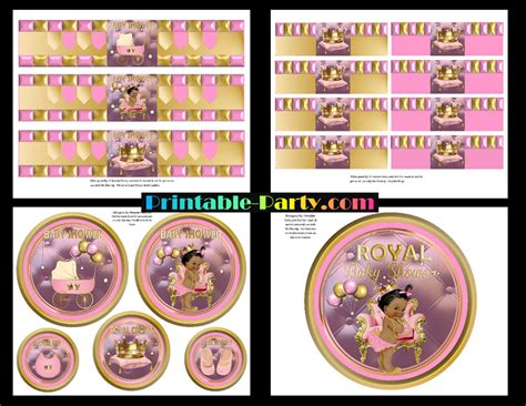 American Baby Shower Supplies by Printable Royal Princess Baby Shower Supplies Pink Gold