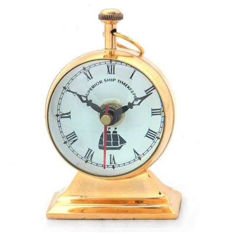 Decorative Table Clocks by Buy Brass Glossy Decorative Nautical Table Clock 367